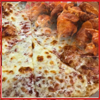 Large 16″ 1-topping pizza WITH 10 WINGS